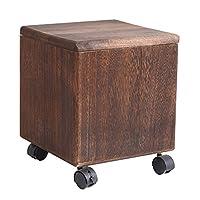 木製 オスマン 収納ボックス/靴の交換スツール/化粧スツール/椅子、子供用おもちゃ箱/シート/多用途スペース、ドレッシングルーム/ベッドルーム/リビングルーム