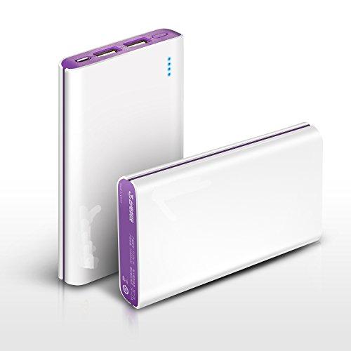 【VSTN】TD-V110H モバイルバッテリー 11000mAh 大容量かつコンパクト13.32cm(L) * 7.14cm(W) * 1.49cm(H)  iphone5/各種スマホ/タブレットPC/iPad等対応 マルチデバイス対応 For Apple ipone 6, 6s, ipone air, Samsung galaxy s5, s5 mini, s5 active, galaxy F, note 4, note 4 mini, note 3, note 3 neo, HTC all new one M8, one mini 2, Sony Xperia Z3, Z2, Z2 mini, T3, T2 Ultra, M2, A2, E, G; lg G3, G3 mini, G2, G2 mini, G pro 2, G flex 2, G pro lite, G pro Lite 2, L40, L50, L60, L70, L80, L90, Asus Zenfone 4, 5, 6, S, Huawei P7, Mate 2, honour 5, ZTE Nubia Z7, Z5, Z5S, Z5S Mini etc (簡易説明書付き) (For 11000mAhモバイルバッテリー, 白+紫)