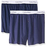 Calvin Klein Men's Modern Cotton Stretch Slim Fit Boxers (2 Pack)