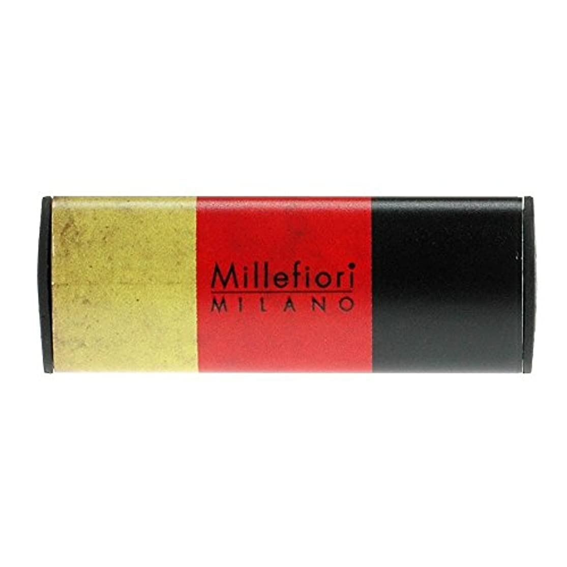 文字興奮する減少Millefiori カーエアフレッシュナー FLAG スパイシーウッド CDIF-G-003
