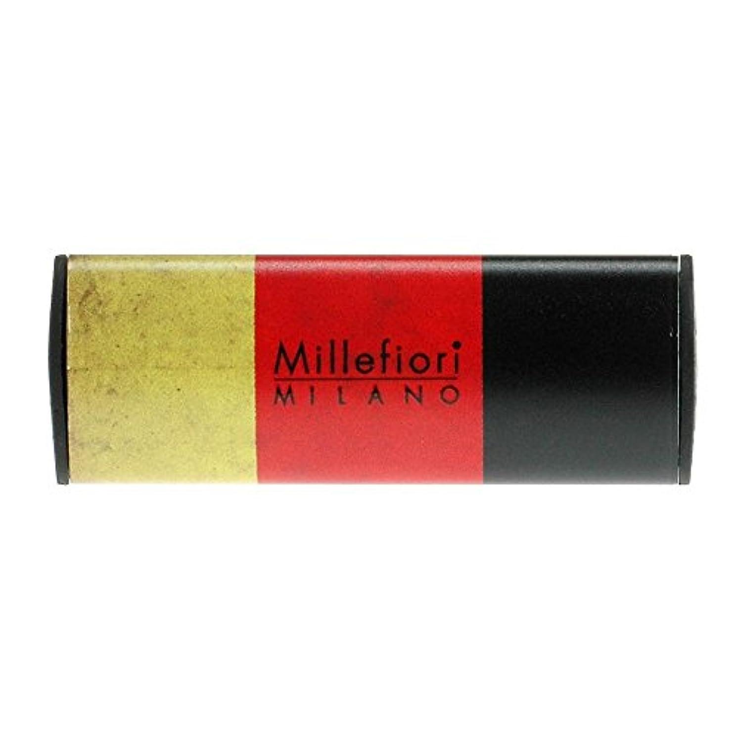 無声で疲れた聴覚Millefiori カーエアフレッシュナー FLAG スパイシーウッド CDIF-G-003