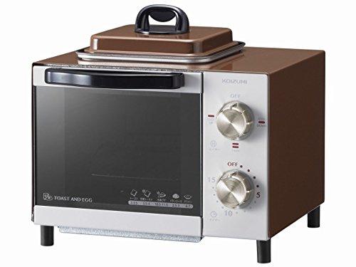 コイズミ オーブントースター 目玉焼き機能付き ブラウン KOS-0703/...