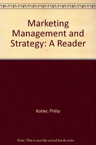 Download Marketing Management and Strategy: A Reader 0135582482