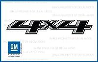 GMCシエラ4x 4トラックブラック&グレーステッカーデカール–FBG ( 2014–2018)ベッドサイド( Set of 2)