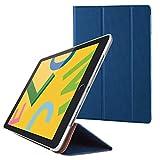 エレコム iPad 10.2 (2019) ケース フラップケース 背面クリア ソフトレザー 2アングル スリープ対応 ネイビー TB-A19RWVNV