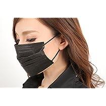 快適フィット黒マスク 使い捨て(不織布) レギュラーサイズ 3枚入×5セット!