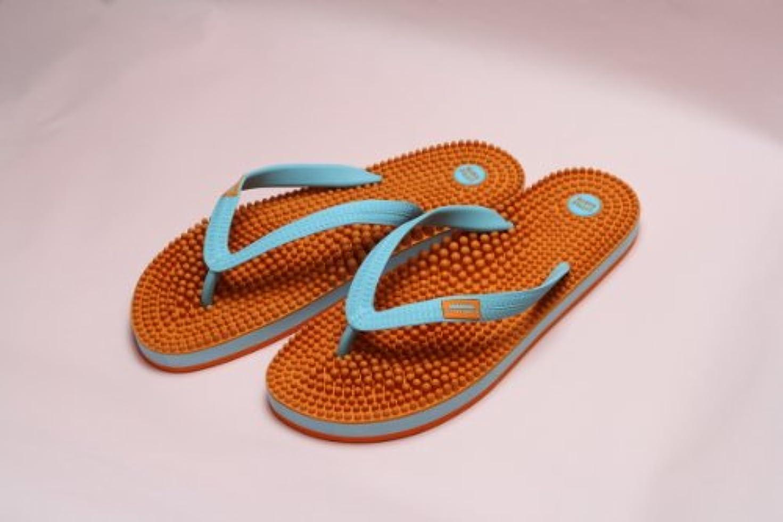 一貫した筋グリットリトルアース ボディポップ(body+pop) ビーチ(BeacH) 5002 オレンジ/ターコイズ 23cm