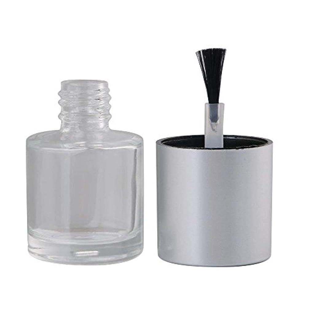 Diystyle 10個入 マニキュアボトル 空ボトル 10ml 小分けボトル 詰め替え 化粧品収納 旅行用品 ガラス グレー