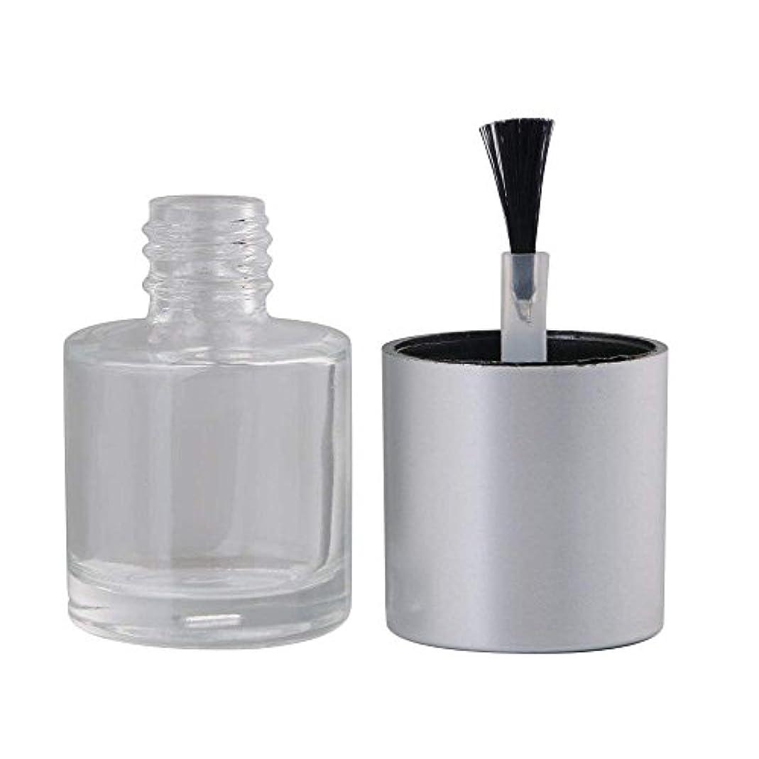 略語ライセンス愛するDiystyle 10個入 マニキュアボトル 空ボトル 10ml 小分けボトル 詰め替え 化粧品収納 旅行用品 ガラス グレー