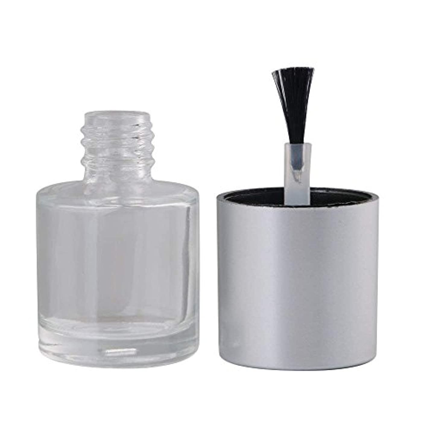 祈るハードリングしたがってDiystyle 10個入 マニキュアボトル 空ボトル 10ml 小分けボトル 詰め替え 化粧品収納 旅行用品 ガラス グレー