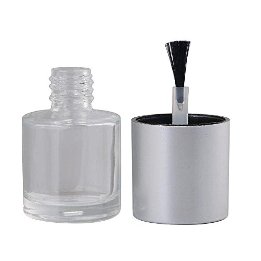 チョークマインド圧力Diystyle 10個入 マニキュアボトル 空ボトル 10ml 小分けボトル 詰め替え 化粧品収納 旅行用品 ガラス グレー