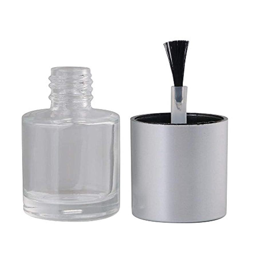 絶対のアンテナ風景Diystyle 10個入 マニキュアボトル 空ボトル 10ml 小分けボトル 詰め替え 化粧品収納 旅行用品 ガラス グレー