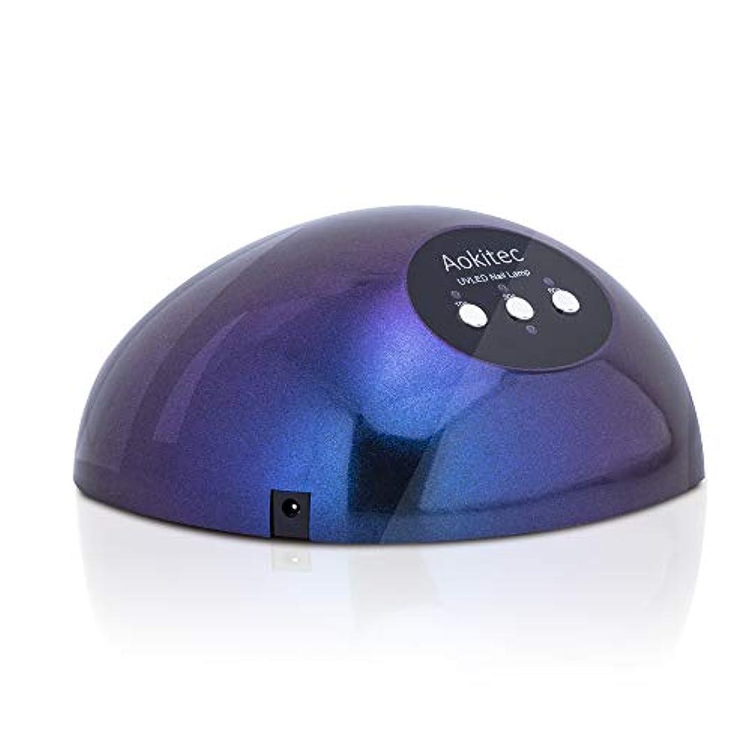 祖先放映移動48W LED UVネイルライト ダブル光源ライト 高速硬化用UVライト オートセンサーとタイマー機能付ネイルランプ 大空間 すべてのジェルネイルとレジン液対応ネイルドライヤー 【日本語説明書付き】