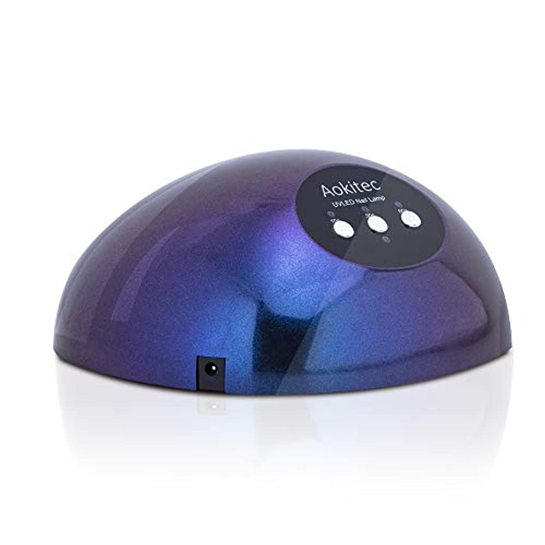 特異な光沢のあるアナリスト48W LED UVネイルライト ダブル光源ライト 高速硬化用UVライト オートセンサーとタイマー機能付ネイルランプ 大空間 すべてのジェルネイルとレジン液対応ネイルドライヤー 【日本語説明書付き】