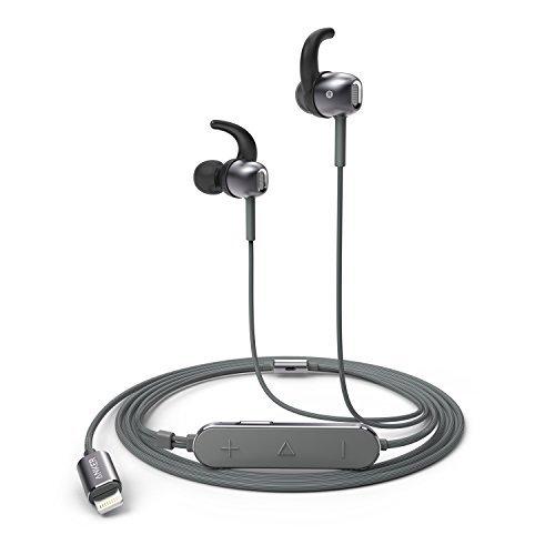 Anker SoundBuds Digital IE10 (ライトニング端子イヤホン)ハイレゾ対応 / Apple MFi認証 / IPX3防水規格 / マイク内蔵iPhone、iPad、 iPod各種対応 (グレー) A30110A1