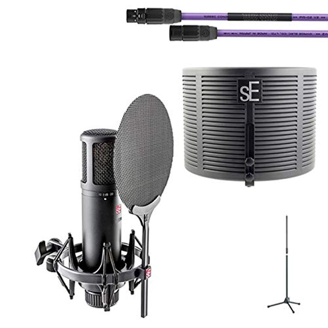 ディンカルビル鋼地雷原sE Electronics sE2200+ケーブル、マイクスタンド+ RF-Xセット