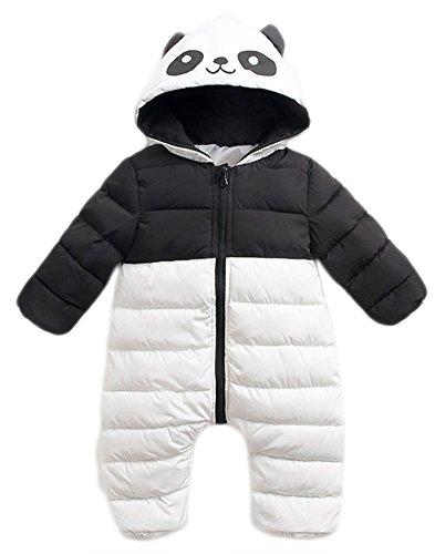 Roffatide ベビー かわいいパンダ ダウンジャンプスーツ ジャケットコート コスチューム ジッパー