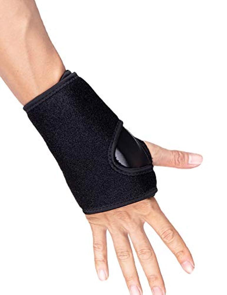 千平均ペスト手首サポーター,リストラップ 固定用金属プレート 手首固定 手首保護に怪我防止 腱鞘炎 捻挫 手根管症候群 ゴルフ テニス 調節可能 フリーサイズ 男女兼用