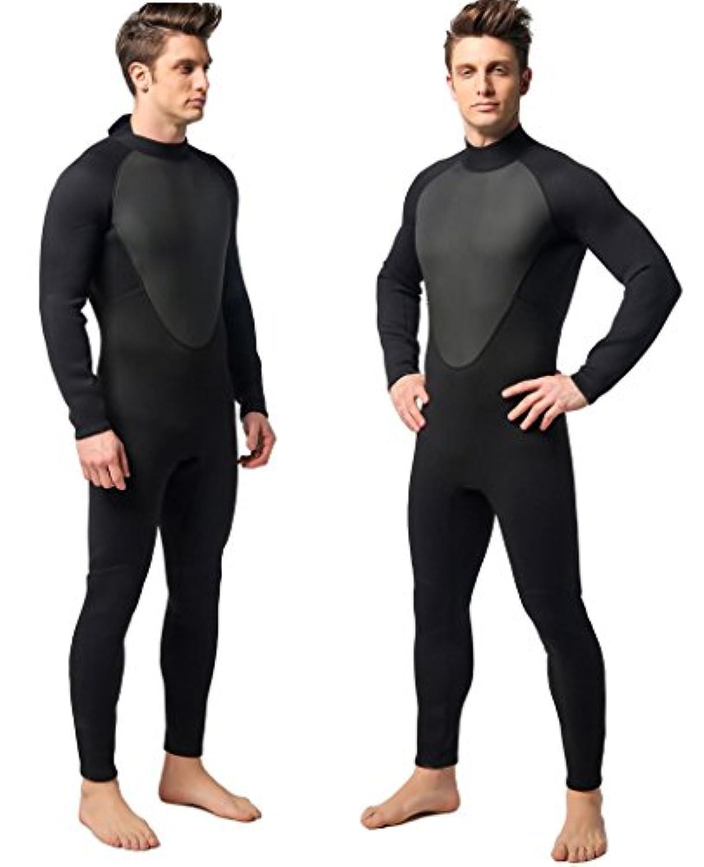MORGEN SKY ウェットスーツ メンズ 3mm フルスーツ 胸部スキン バックジップ SUP サーフィン パドリング サーフボード用 MS-MY001