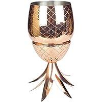 304ステンレス鋼パイナップルカクテルグラス500MLカクテルドリンクカップ(カラー:ローズゴールド)