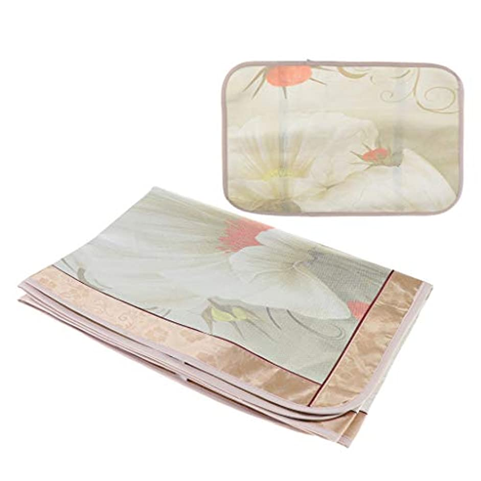空気アルプスハードjoyMerit マッサージベッド シートカバー 睡眠マット 枕カバー - フローラル6