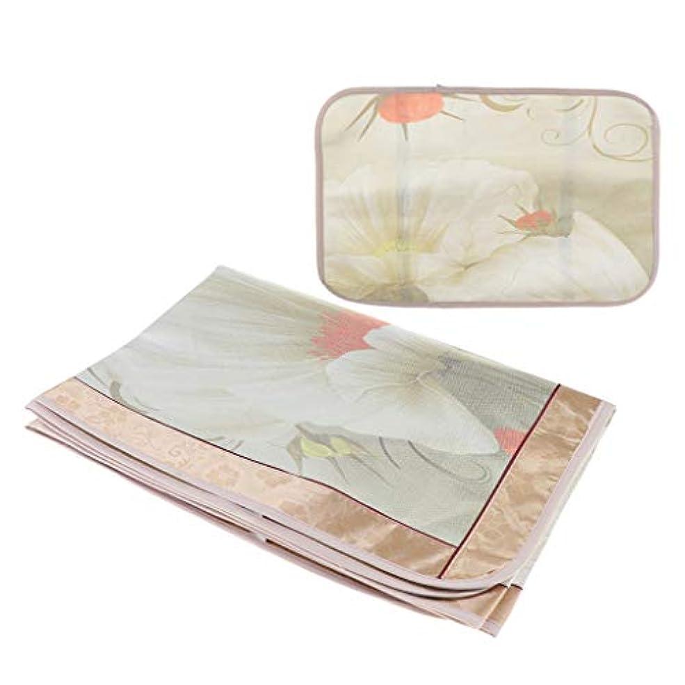 ワークショップ有利効果joyMerit マッサージベッド シートカバー 睡眠マット 枕カバー - フローラル6