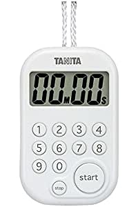 タニタ(TANITA) キッチンタイマー(デジタル) ホワイト デジタルタイマー 100分計 TD-379-WH