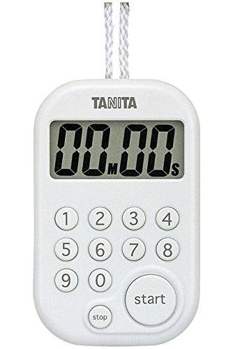 タニタ デジタルタイマー100分計 ホワイト TD-379-WH