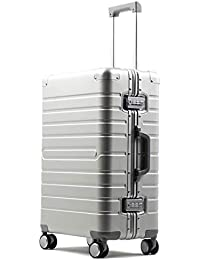 ビルガセ(Vilgazz) スーツケース アルミ・マグネシウム合金ボディ 軽量 キャリーケース 丈夫 キャリーバッグ TSAロック付 大容量 静音 ビジネス 旅行出張 機内持込 1年保証