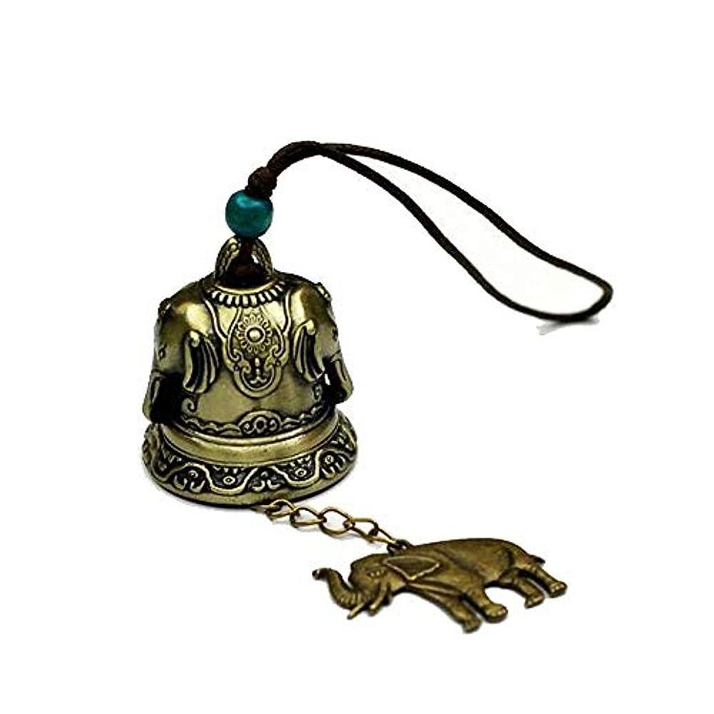 勇敢な会話ビルダー風鈴、ヴィンテージ金属真鍮の鐘、家の装飾、ベッドルームのバルコニーの装飾のペンダント (Color : 2)