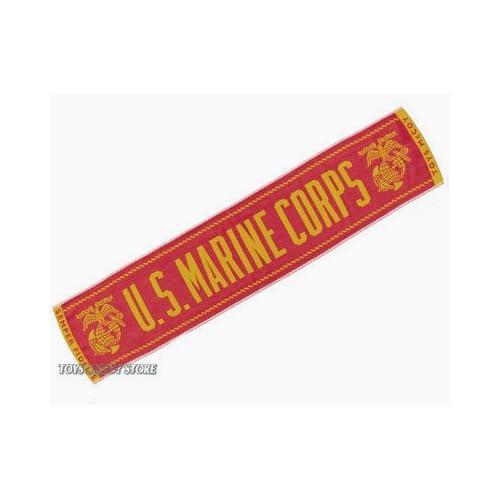 トイズマッコイ (TOYS McCOY) ジャガード織 ジャガードマフラータオル U. S. MARINE CORPS レッド/イエロー TMA1217