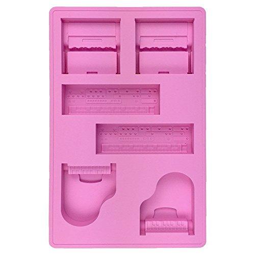 [해외]ShimamuraMusic 시마무라 악기 건반 형 실리콘 트레이 핑크 Piano on the rock/ShimamuraMusic Shimamura instrument keyboard type silicone tray pink Piano on the rock