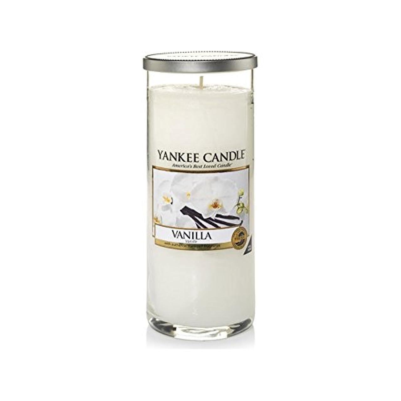 インタビューラボうなずくYankee Candles Large Pillar Candle - Vanilla (Pack of 2) - ヤンキーキャンドル大きな柱キャンドル - バニラ (x2) [並行輸入品]