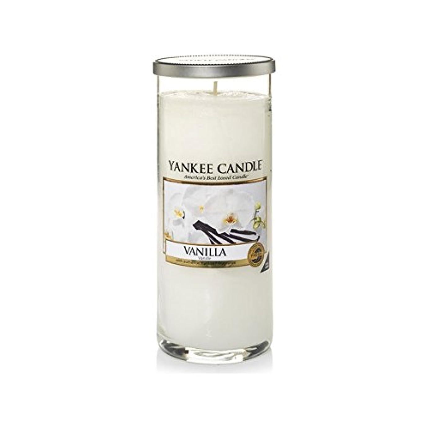 混乱郡聴覚Yankee Candles Large Pillar Candle - Vanilla (Pack of 2) - ヤンキーキャンドル大きな柱キャンドル - バニラ (x2) [並行輸入品]