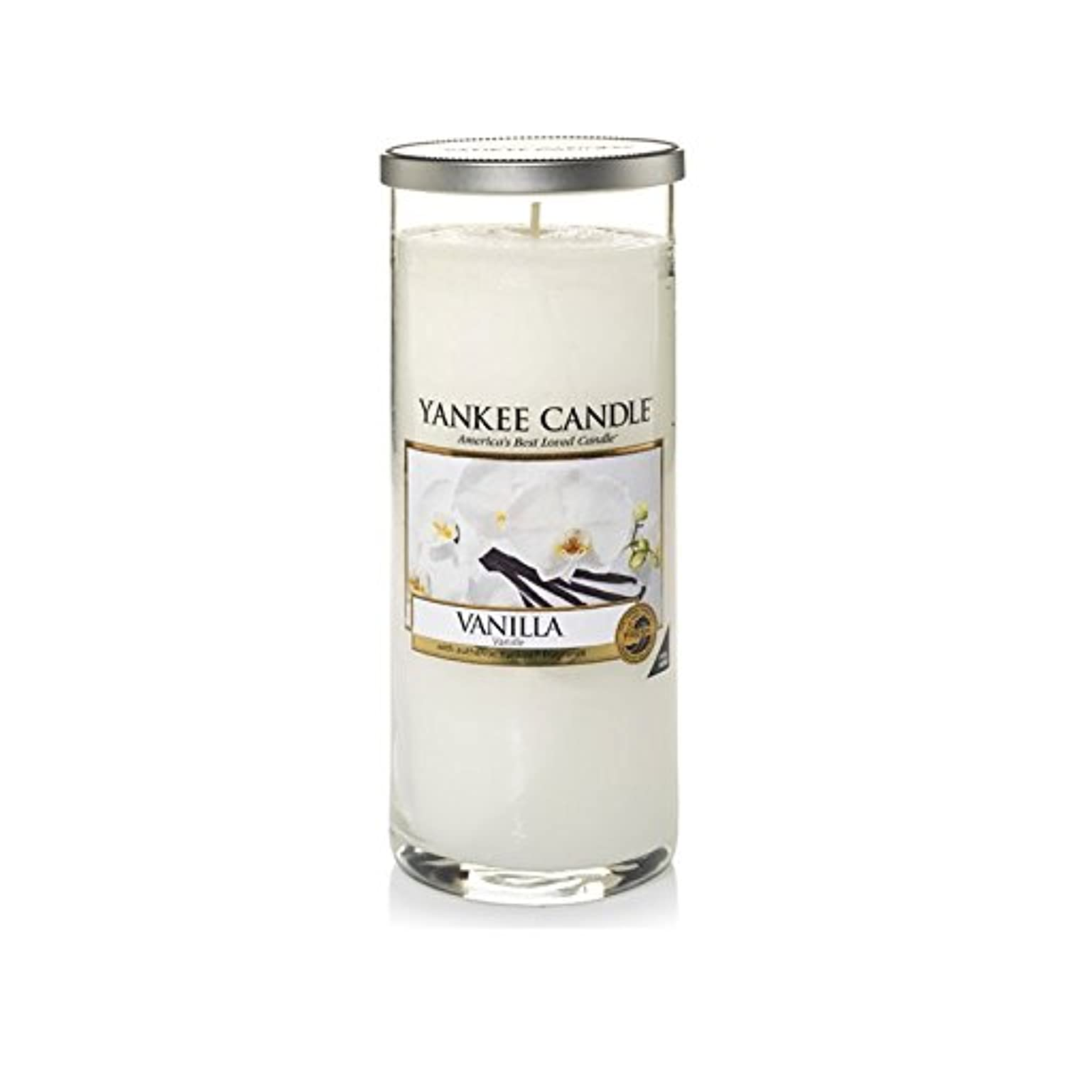 Yankee Candles Large Pillar Candle - Vanilla (Pack of 2) - ヤンキーキャンドル大きな柱キャンドル - バニラ (x2) [並行輸入品]