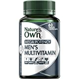 Nature's Own Mega Potency Men's Multivitamin - Packed With Vitamins, Minerals and Nutrients - Supports Immunity, 60 Tablets
