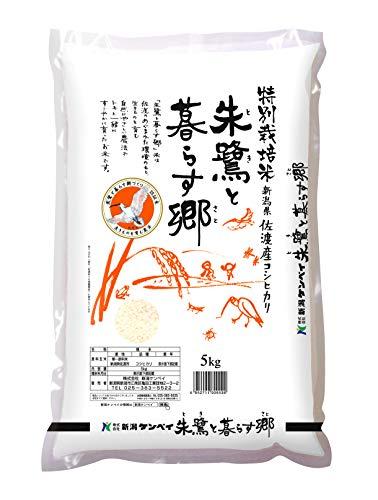 田中米穀 朱鷺と暮らす郷 特別栽培米 新潟県佐渡産コシヒカリ 5kg