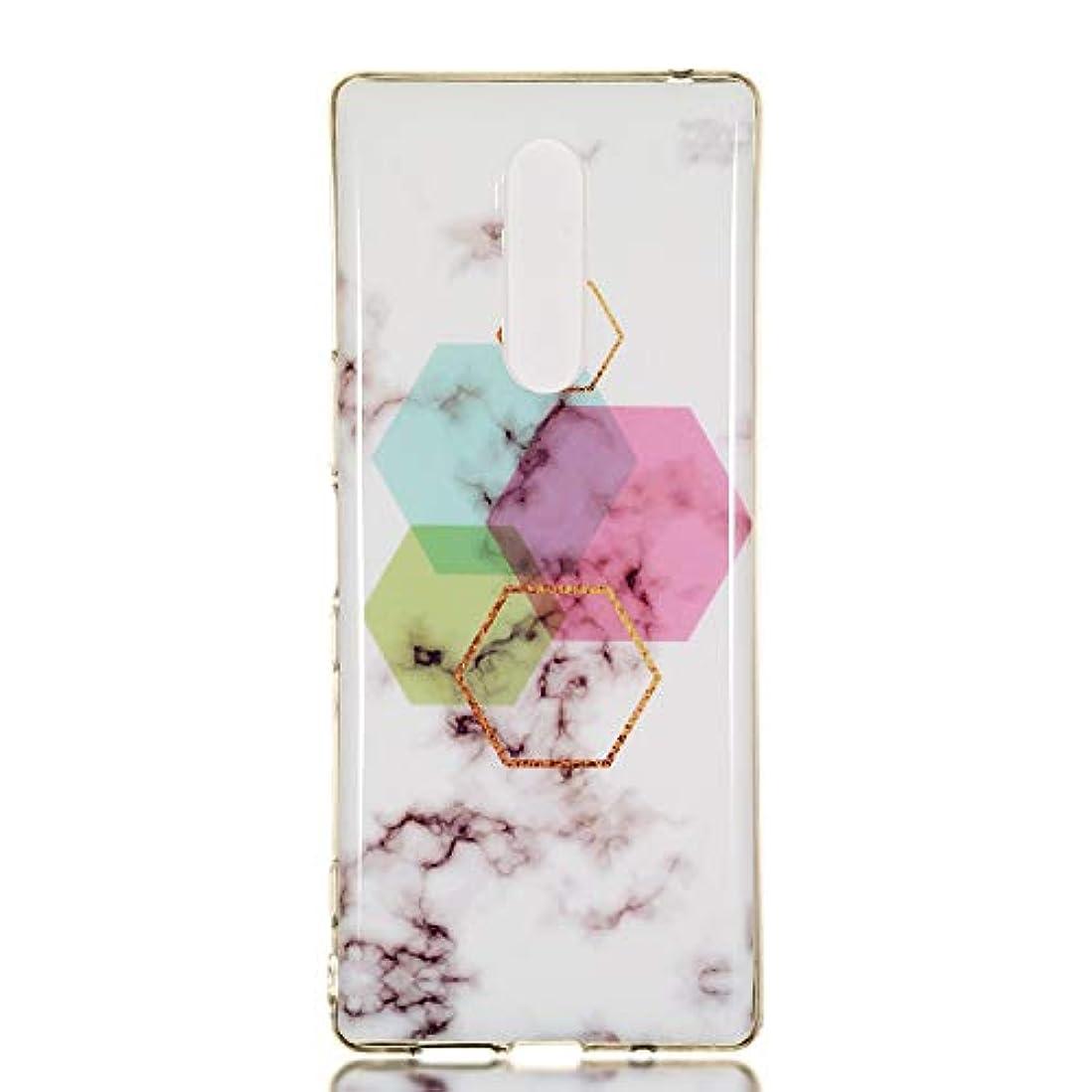 同行定常面Sony Xperia 1 ケース シリコン ソフト, Lomogo エクスぺリア1 ケース 携帯カバー 耐衝撃 防塵 おしゃれ - LOYHU241073#5