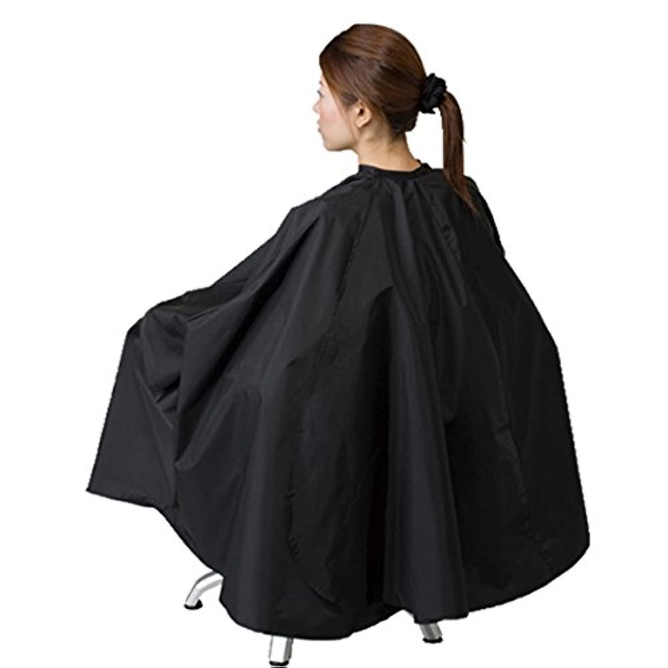 ますます意識的タール車イス?大型美容椅子対応 袖付 ヘアダイクロス エルコ 9777 BOX チェアー 毛染め用 訪問理美容にも ELCO (ブラック)