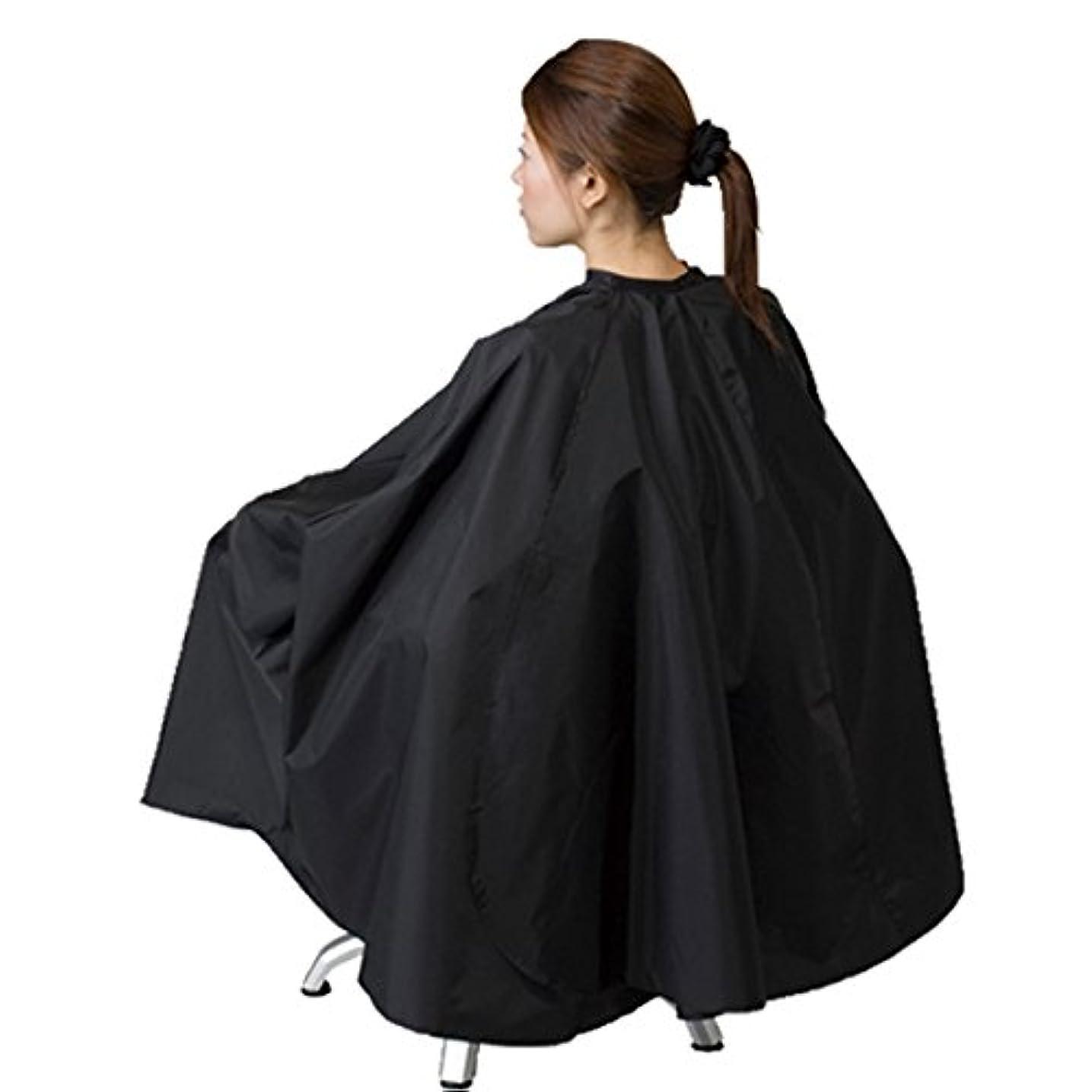 いいね情熱的鹿車イス?大型美容椅子対応 袖付 ヘアダイクロス エルコ 9777 BOX チェアー 毛染め用 訪問理美容にも ELCO (ブラック)