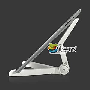 Galaxy Tab 7.7 / iPad mini / Google nexus 7 / iPad 3 対応タブレットPC スタンド コンパクト収納 ホワイト Portable Fold-Up Stand for Tablet PC(7641-2)