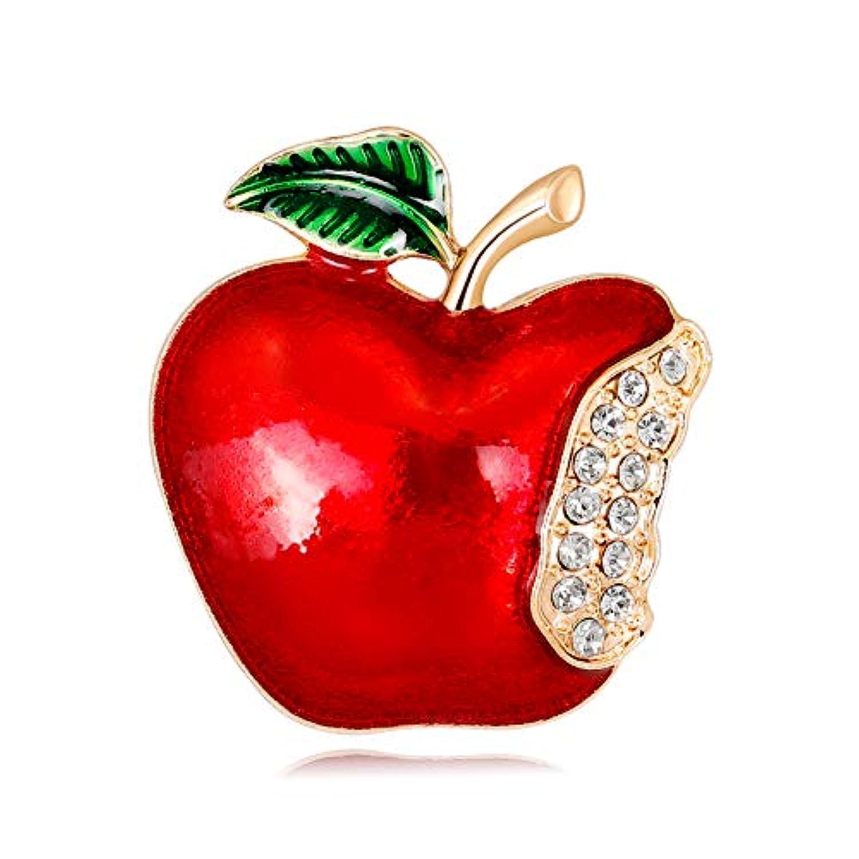 Fablcrew ブローチ アップル 胸飾り ピン ジュエリー エレガント 美しい アクセサリー コサージュ 入園式 入学式 卒園式 卒業式 結婚 フォーマ 記念式典