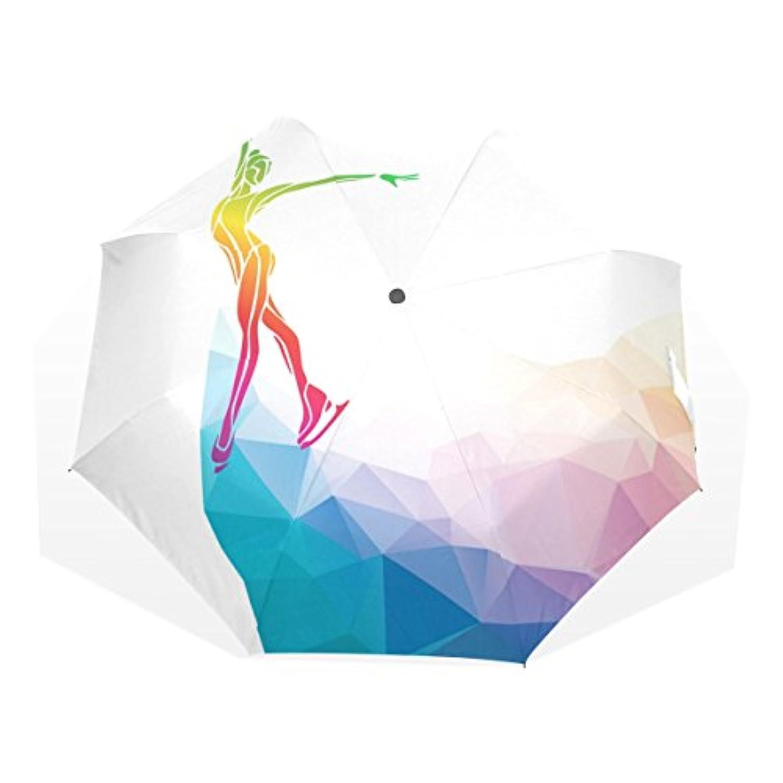 AOMOKI 折り畳み傘 折りたたみ傘 手開き 日傘 三つ折り 梅雨対策 晴雨兼用 UVカット 耐強風 8本骨 男女兼用 スケート