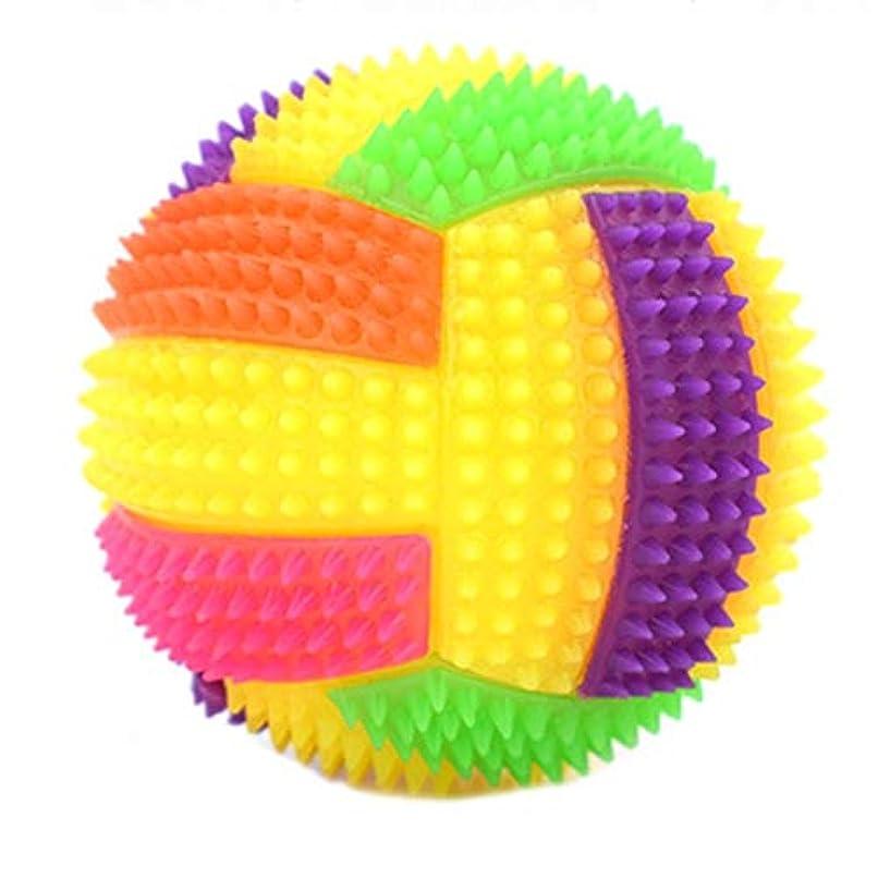 貼り直す取り消す万一に備えて点滅弾むバレーボールボールLEDライトヘッジホッグバウンスペットの犬のおもちゃを噛ん