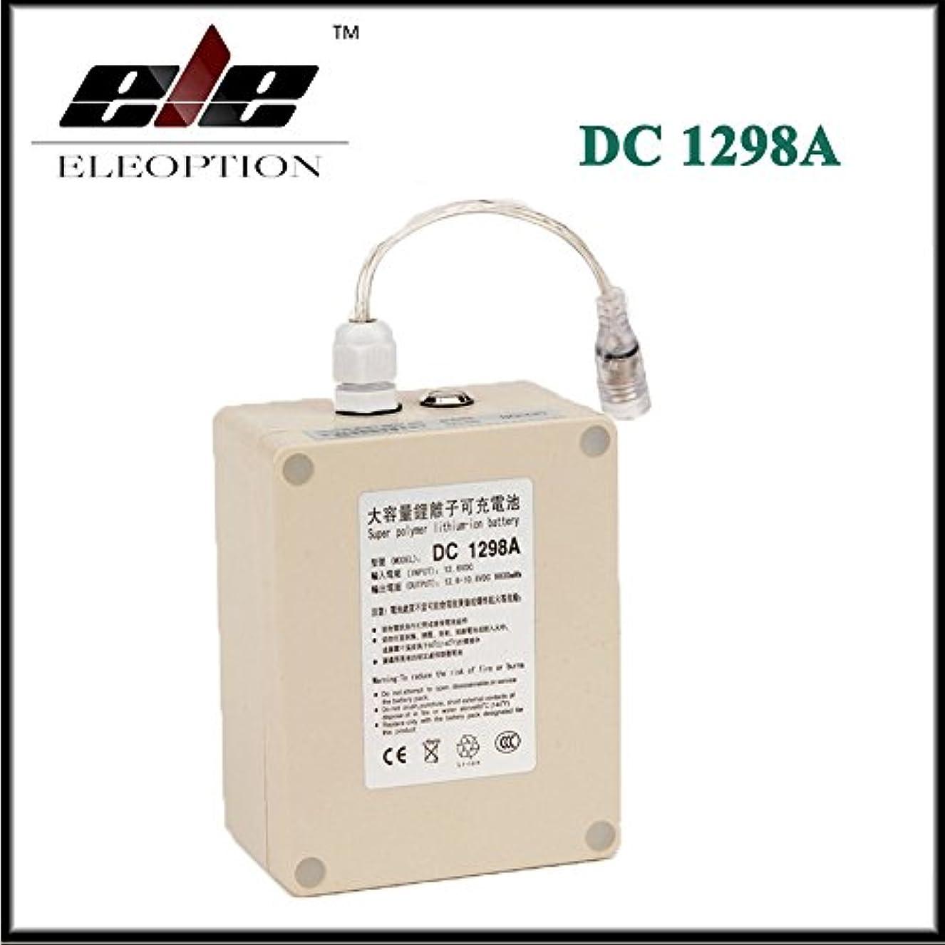 絞るチャーター飲み込むEleoption リチウムバッテリー リチウムイオン充電池 充電式電池 高品質 大容量 電池 DC 12V 9800mAh USプラグ付き 防水