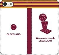 iPhone7/7Plus対応/iPhone用選択可:バスケットシルエット手帳ケース(フルカラー/ホーム/クリーブランド:優勝) iPhone5/5s5/SE用