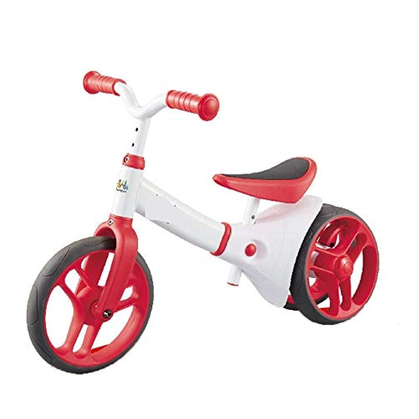 羊のパーフェルビッド自己尊重子供用 バランス三輪車 赤ちゃんの高炭素鋼収支自転車のペダルトウホイールバランスカーアジャスタブルハンドルバーやシート子供のおもちゃなし 乗用玩具 (Color : White, Size : 12 inch)