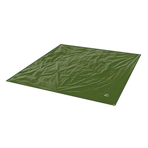 Terra Hiker レジャーシート アウトドアキャンプタープ ピクニックマット テントの下敷きに 日よけテント 防水 折りたたみ式ブランケット 収納バッグ付き 軽量 (dark green 240*220cm)