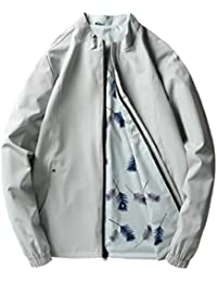 Keaac メンズ?カジュアル軽量二重側摩耗のボンバージャケットコート
