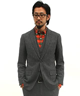 Homespun 2-button Jacket 3122-186-0279: Grey